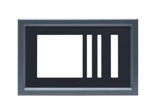 PLAST 532 x 344 z antracit RAL 7016 okvirjem + OKRASNI DODATEK (+54,79 €)